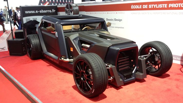 The Geneva Motor Show. Hot rod built by students, this thing is sick!