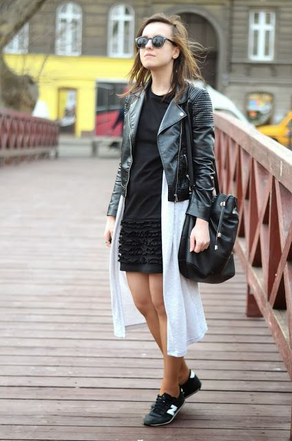 leather jacket layers blogger fashion outfit street style