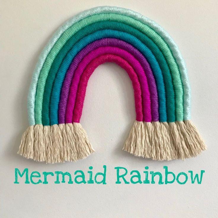 Macrame rainbow wall hanging Mermaid rainbow wall hanging