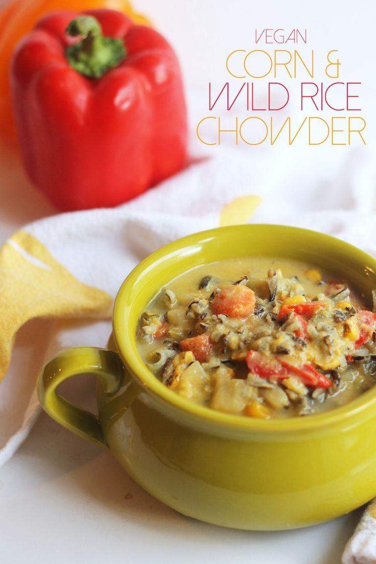 Vegan Corn & Wild Rice Chowder | hummusapien