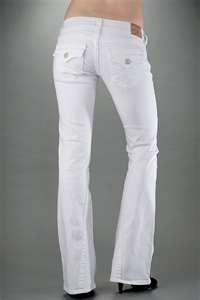 White TRUE RELIGON Boot Cut Jeans $90.99