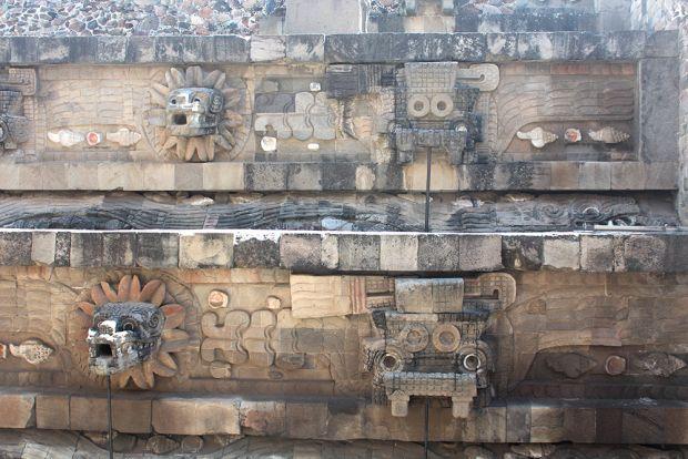 Templo Quetzalcoatl, Teotihuacan, México.