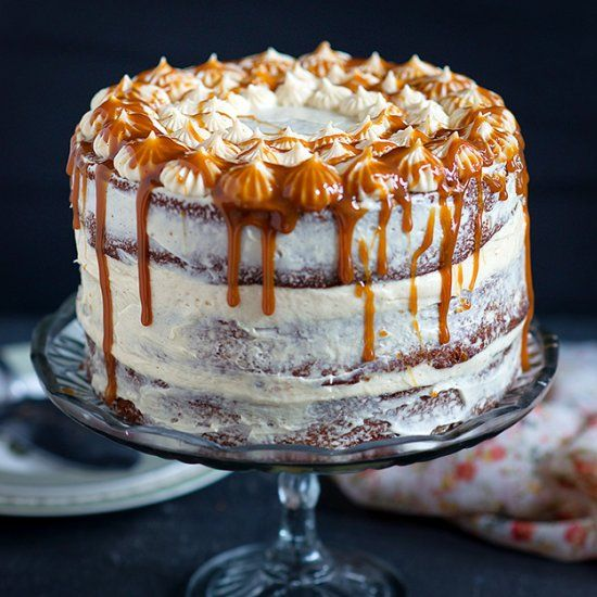Caramel And Cream Cake