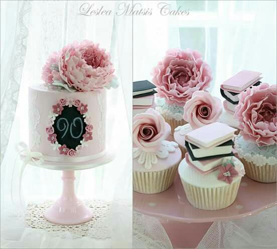 Gorgeous 90th birthday cake