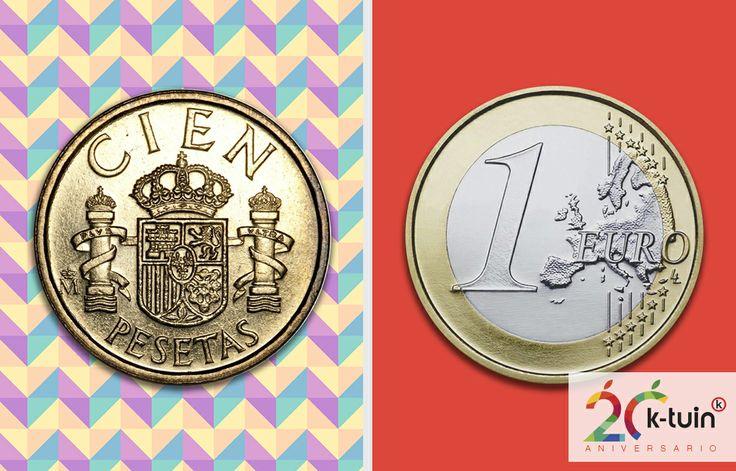 @K-tuin - Apple Premium Reseller #ComoHemosCambiado #20aniversarioktuin cambio #Pesetas vs. #Euro