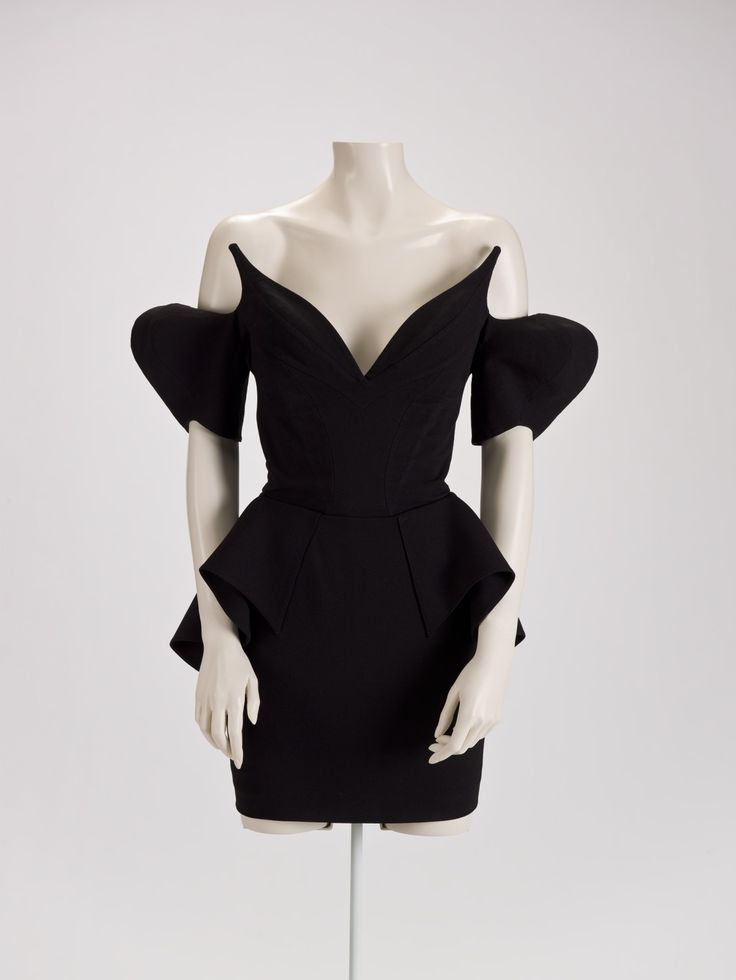 "Thierry Mugler (French, 1948-1981), ""Dress,"" 1981; Indianapolis Museum of Art, Lucille Stewart Endowed Art Fund, 210.26"