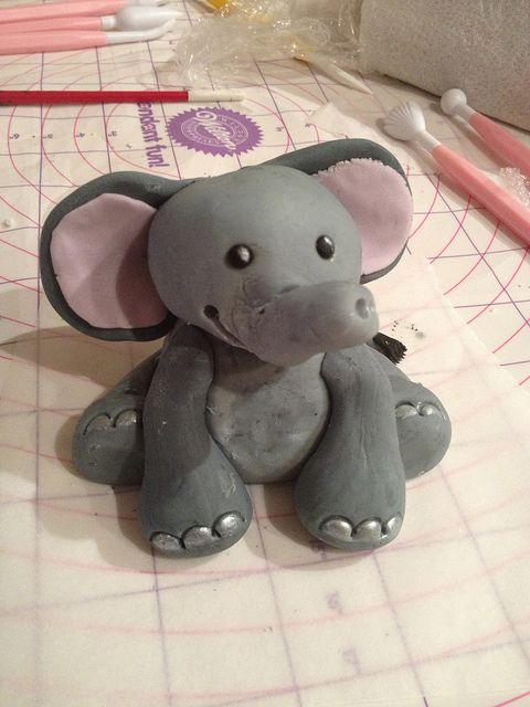 #Elephant #FondantFigure