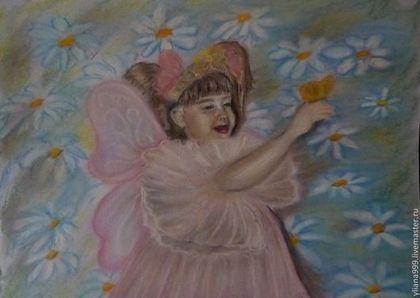"Картина пастелью ""Бабочка"" - картина,графика,пастель сухая,картина пастелью"