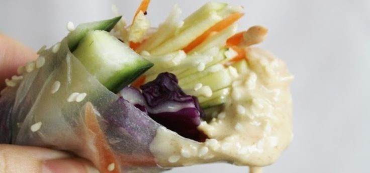 A Lighter Lunch: Raw Spring Rolls With Vegan Dipping Sauces
