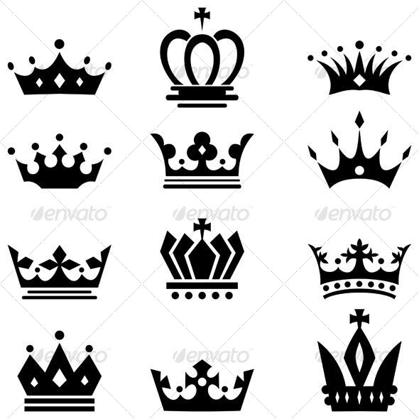 e92e4bdde CROWNS === shapes with bling; vintage engravings; colour prints, give them  a 3d shape (curved, spalyed, tapered) | Tattoos | Crown tattoo design,  Princess ...
