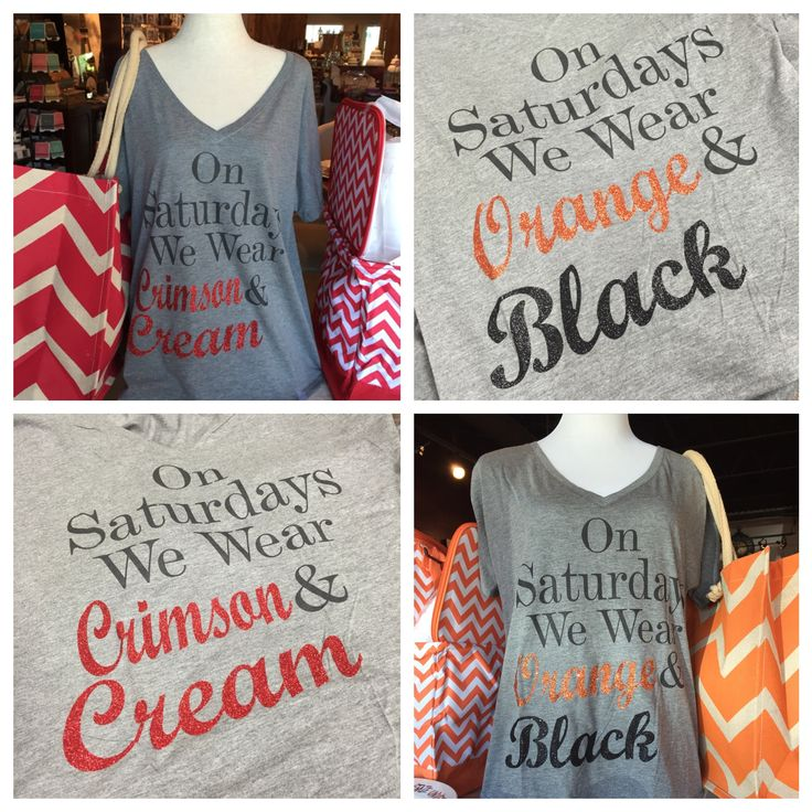 OU and OSU game day shirts for football season!