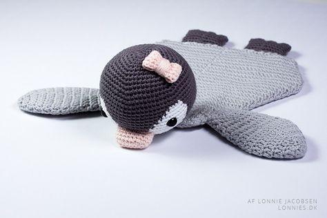 Hækleopskrift: hæklet pingvin nusseklud
