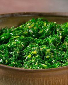 Brazilian Collard Greens. I love collard greens and this recipe keeps the fresh and crunch that I love to get when going to a Brazillian steak house.