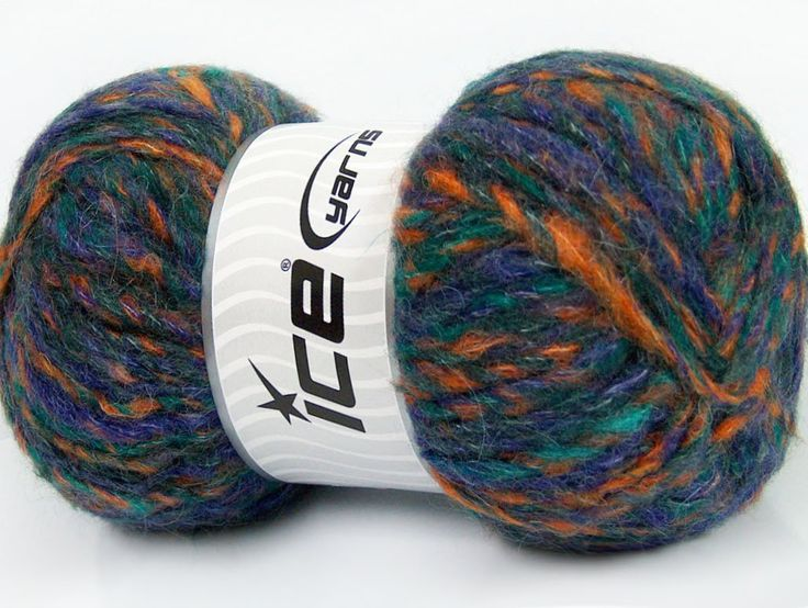 Composition 43% Acrylique 27% Polyamide 15% Mohair 15% Laine Purple Orange Brand ICE Green fnt2-41169