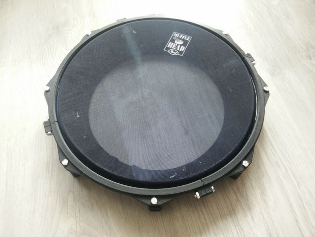 "10"" Practice Drum Pad (eDrum) by XDr4g0nX - Thingiverse"