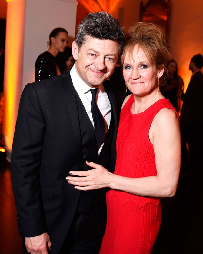 Andy Serkis and Lorraine Ashbourne at the 20th Century Fox party