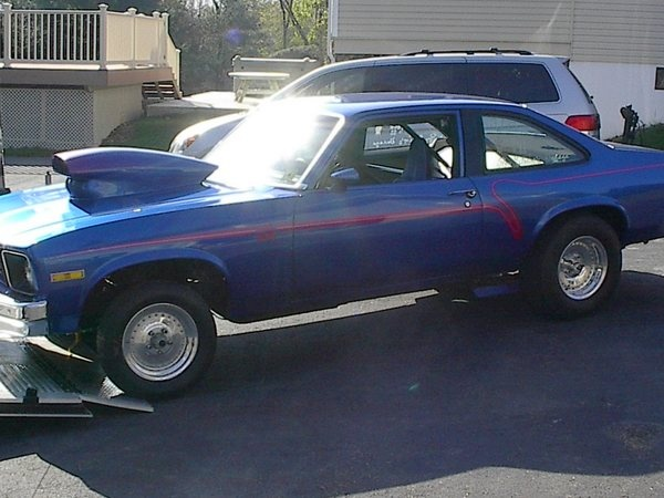 76 Nova 76 Nova Drag Car Roller No Motor No Trans For Sale Car