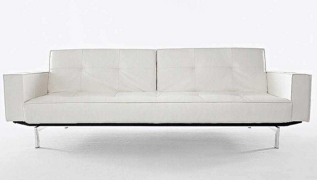 Oz Futon Sofa Bed by Innovation Living.Oz Futon Sofa Bed is versatile as well as trendy. Pocket springs,polished chrome legs,and a black and White vinyl upholstery make the Oz Futon Sofa Bed perfect for any occasion. Luxury and too comfort,Custom-sty http://soloha.vn/sofa.html