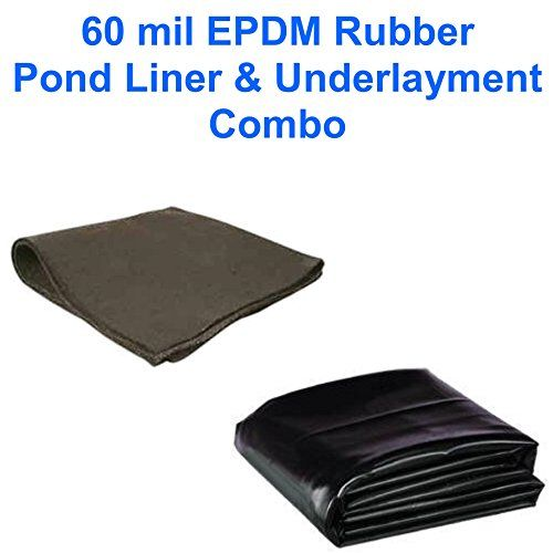 15' X 40' Patriot 60 Mil Epdm Pond Liner & Underlayment Combo, 2015 Amazon Top Rated Pond Liners & Seals #Lawn&Patio