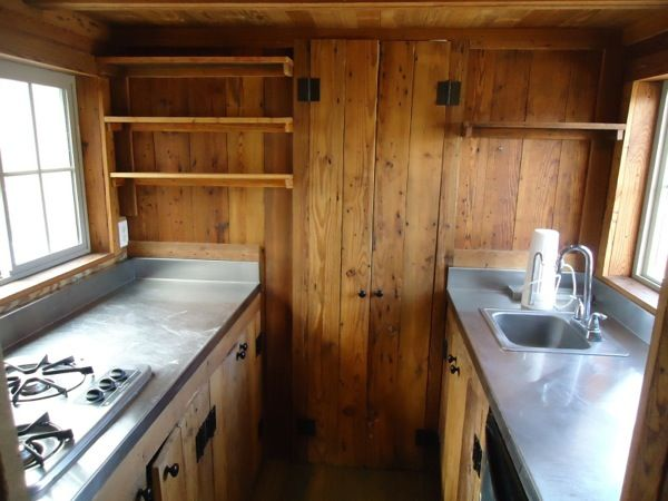 Reclaimed Tiny House Kitchen Double Galley Kitchen Love It To Connect With Us And Our