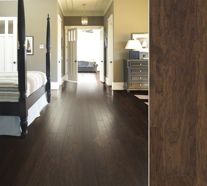 Shaw Epic hardwood in hickory. Style Pebble Hill II color Weathered Saddle.  Available at - 65 Best Images About Hardwood Flooring On Pinterest California
