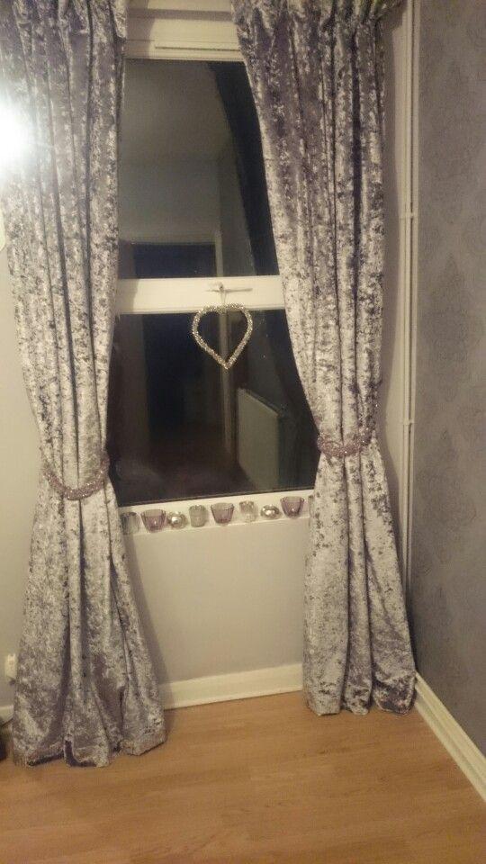 grey crushed velvet curtains   Curtain Menzilperde.Net - photo#44