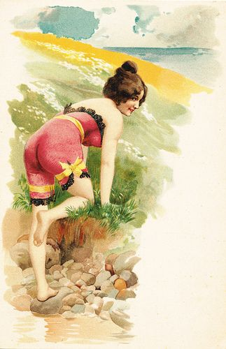 Vintage Bathing Beauty Postcard
