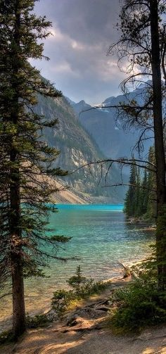At the gorgeous Moraine Lake at the Banff National Park in Alberta, Canada.