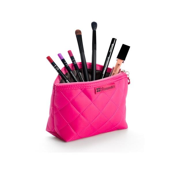 BH Cosmetics Pink Beauty Bag (115 RUB) found on Polyvore
