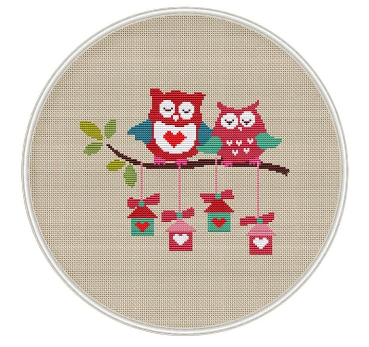 Owls Cross stitch pattern Counted cross stitch от MagicCrossStitch