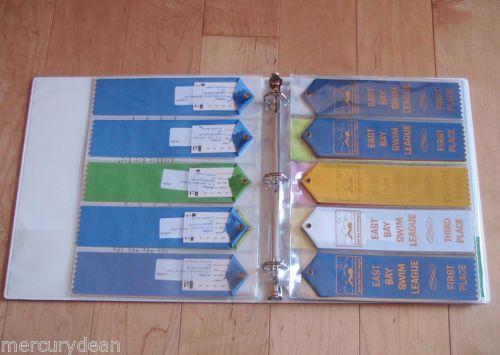 swimming ribbon binder pages.