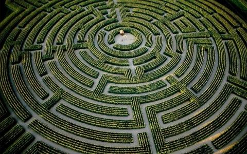 Largest maze in the world, Reignac-sur-Indre, Indre-et-Loire Dept., France. (© Yann Arthus-Bertrand)