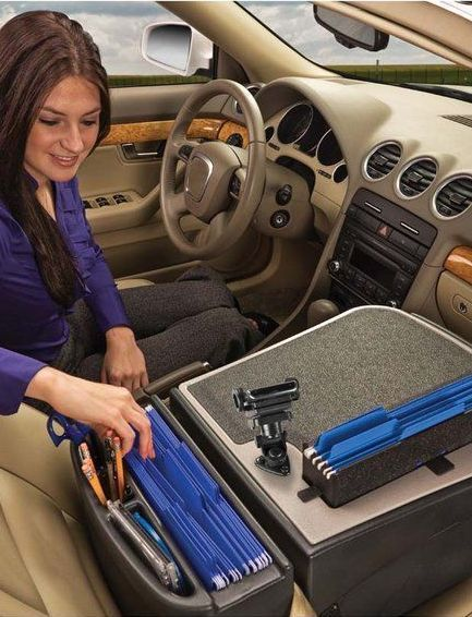 Papers, papers, everywhere? The FileMaster Car Desk provides a top surface covered with rubber non-skid material, helping to keep supplies from sliding when the vehicle is in motion. What more do you need?
