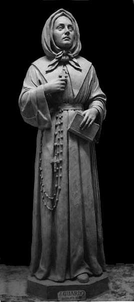 Statue de Marguerite Bourgeoys. Statue of Marguerite Bourgeoys.