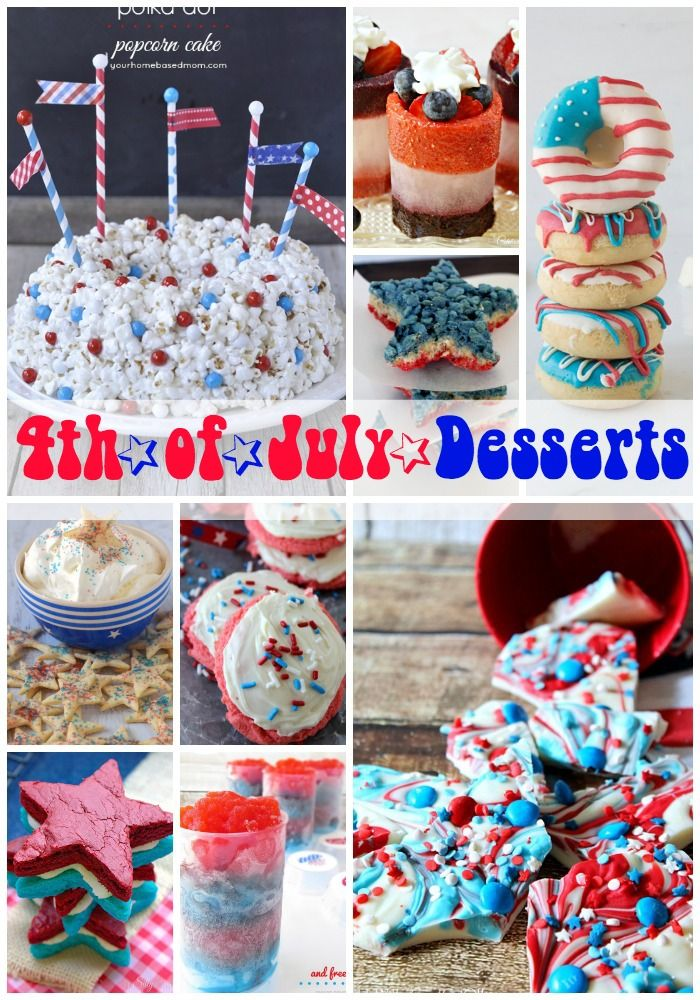 Fourth of July Desserts - Princess Pinky Girl: July Treats, Fourth Of July, Desserts Idea, 4Th Recipies, 4Th Of July, July Desserts, Princesses Pinkie Girls, July 4Th, Bangs Pow