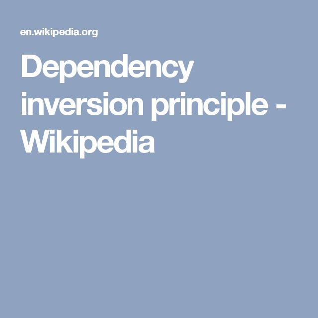 Dependency inversion principle - Wikipedia