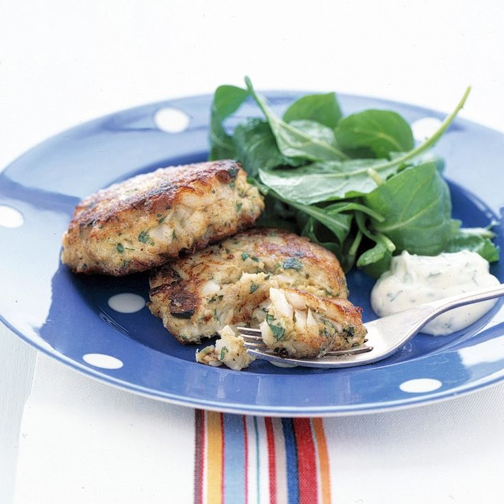 These tasty little cod cakes are terrific to have on hand in the freezer. You can take out and cook as many or as few as you need. Defrost them overnight in the refrigerator, and they'll be ready to cook the next day. Serve the cakes with your favorite tartar sauce.