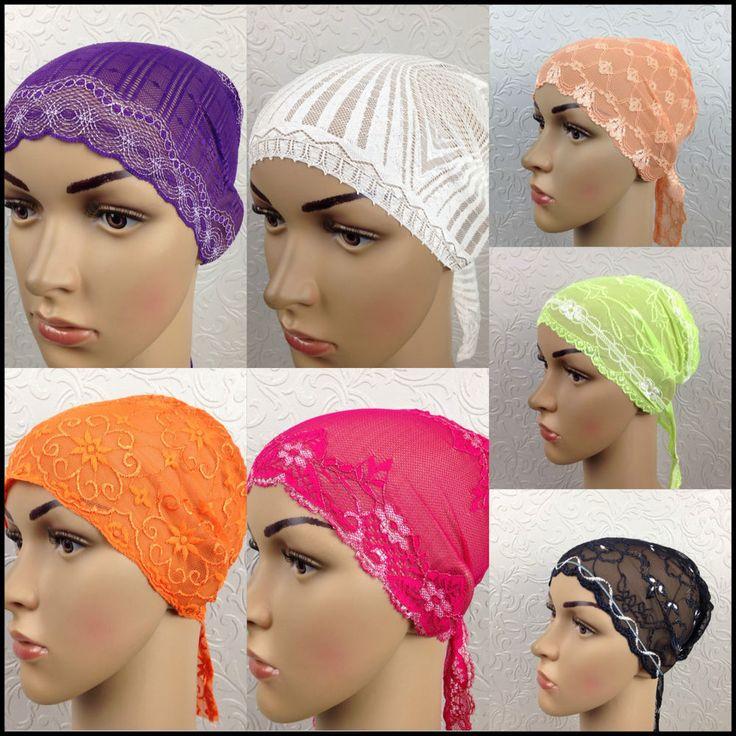 Lace Bonnet hairband BANDANA WRAP HAIR LOSS CHEMO Indian FANCY DRESS HATS1 #ARABIANSTYLES #BonnetChemo