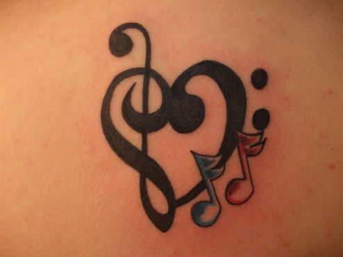 music notes and stars tattoos - Google Search