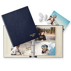 Leather Traditional Photo Album, Navy