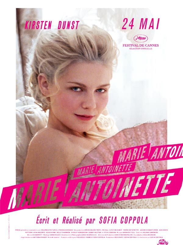 Marie Antoinette by Sofia Coppola. This movie takes Marie-Antoinette's point of view into account, uncommon and very interesting! Plus the soundtrack is simply perfect.