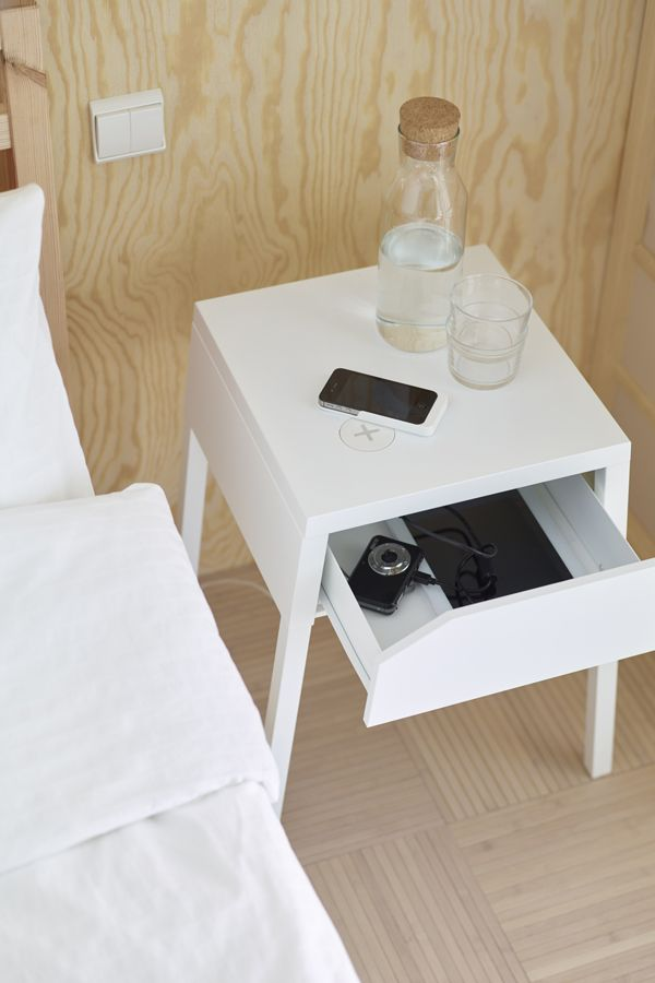 A little organization can make a big difference - like the IKEA SELJE nightstand that has room for a power strip for your chargers in the drawer! Find more tips to get organized in Your Stress-Free Organization Guide!