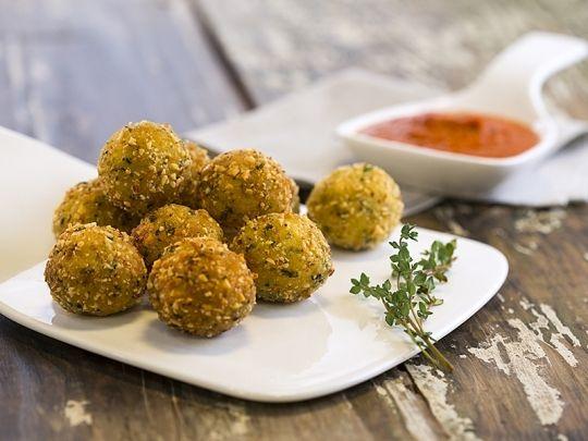 Бон Апети Аранчини със сос от печени чушки