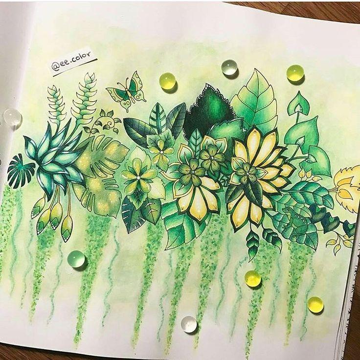 Art by @ee.color Quanto verde maravilhoso!!! Que colorido lindo! Apaixonei Coisa mais linda ❤❤ #colorindomeujardimencantado #LoveIn30Languages #mycreativeescape #mandala #johannabasford #secretgarden #FlorestaEncantada #enchantedforest #adultcoloringbook #jardimdosbroder #fabercastell #maped #staedtler #mapedcolorpeps #fabercastellbrasil #polychromos #livrocoloriramo #parkyoungmi #hannakarlzonsommarnatt #oceanoperdid...