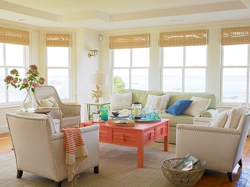 Focal point coral coffee table rooms houses - Interior design focal point ...