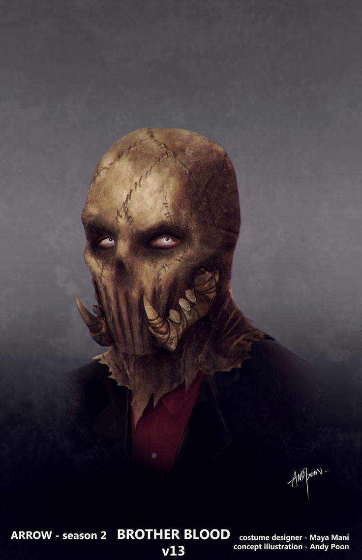 Arrow TV Show Concept Art | Arrow Concept Artist Shows Off Mask Designs for Ollie, Brother Blood ...