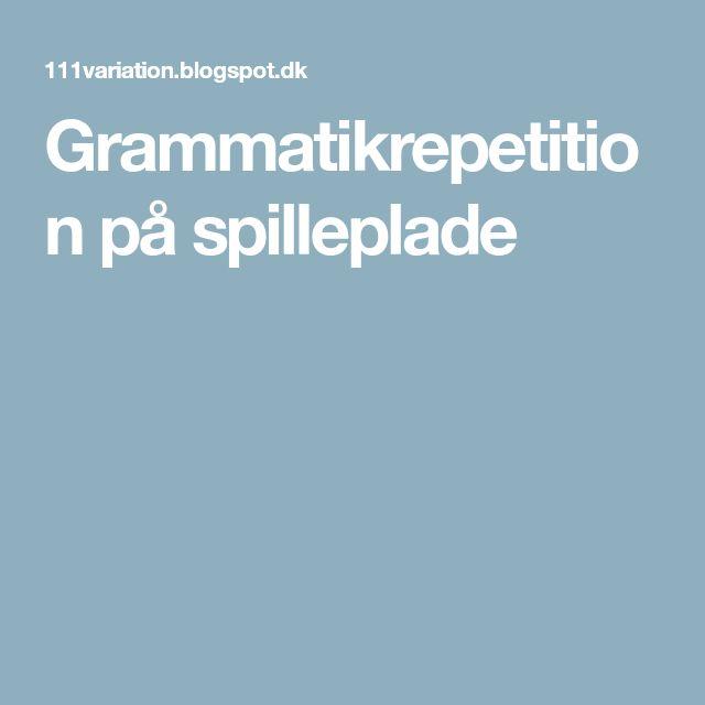 Grammatikrepetition på spilleplade