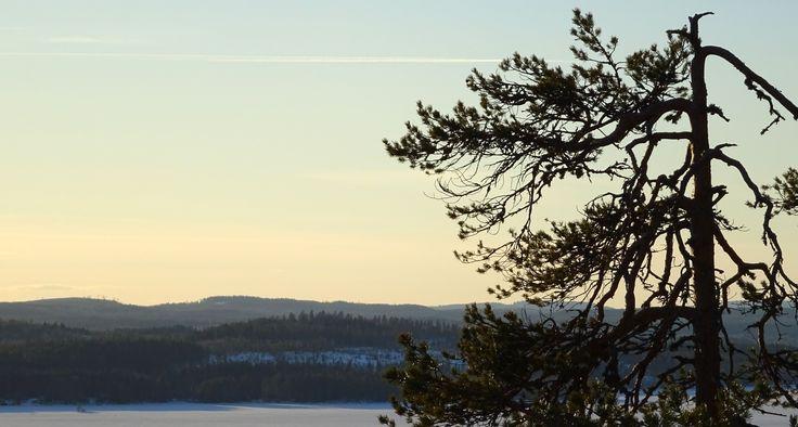 Amazing view at the cliffs of Neulamäki, Kuopio, Finland.