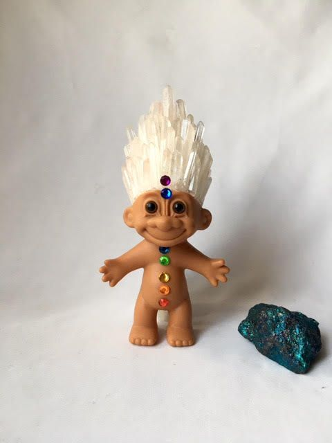 Chakra Crystroll  Original Russ Troll Doll With Quartz