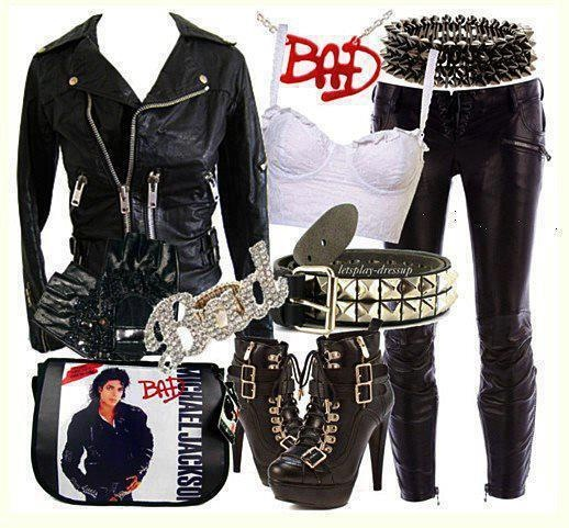 """Female Michael Jackson """"Bad"""" outfit.Love this but being ALMOST 40 I am sure I would get a few stares!!!"""